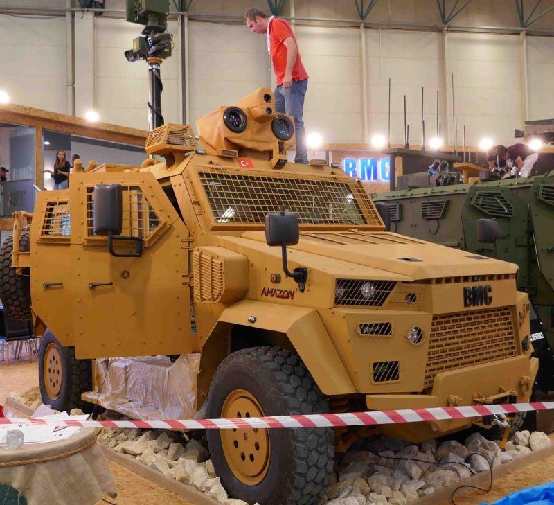 Τουρκικό όχημα με σύστημα λέιζερ