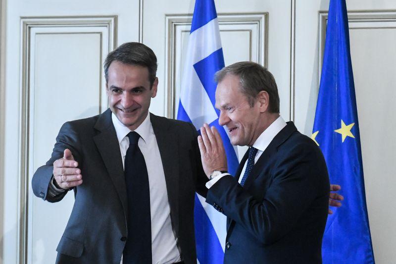 , Τουσκ-Μητσοτάκης συζήτησαν την ατζέντα του Ευρωπαϊκού Συμβουλίου