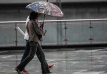βροχή ομπρέλα