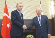 Ο Ταγίπ Ερντογάν μαζί με τον Βλαντιμίρ Πούτιν σε πρόσφατη συνάντησή τους