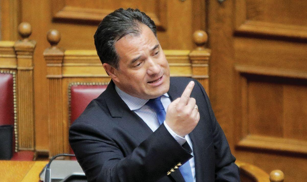 «Πλάτες» σε τράπεζες και εισπρακτικές συνεχίζει να κάνει με περίσσιο θράσος ο Άδωνις, ακόμη και μέσα στη Βουλή!