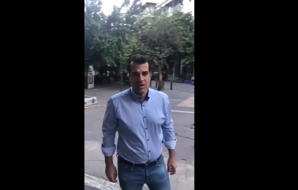 Ο Θάνος Πλεύρης κάνει επιθεώρηση νομίζοντας ότι κάνει πολιτική! (video)