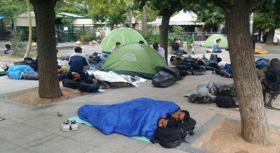 Μετανάστες πλατεία Βικτωρίας