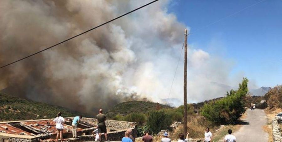 φωτιά ανατολική Μάνη
