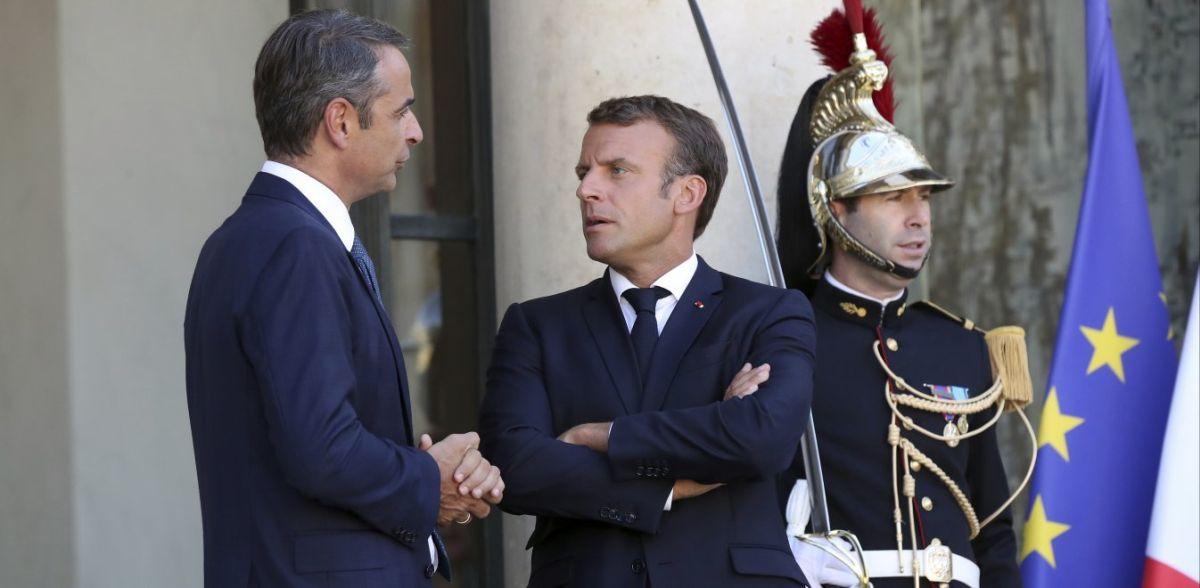 Ο Μητσοτάκης ευχαρίστησε στα γαλλικά τον Εμανουέλ Μακρόν για την ενίσχυση στην Αν. Μεσόγειο