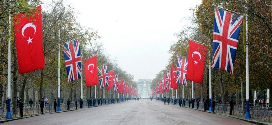 Τουρκία Βρετανία σημαίες