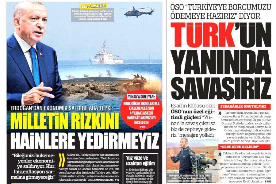 εξώφυλλο τουρκική εφημερίδα