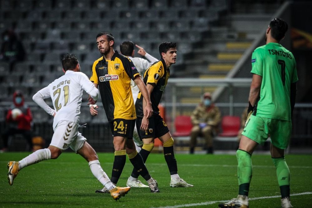 Europa League: Με κάτω τα χέρια έχασε η ΑΕΚ (3-0) στην Πορτογαλία από τη Μπράγκα