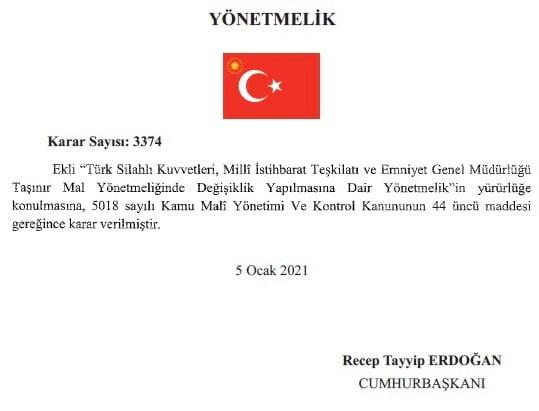 Ερντογάν προεδρικό διάταγμα